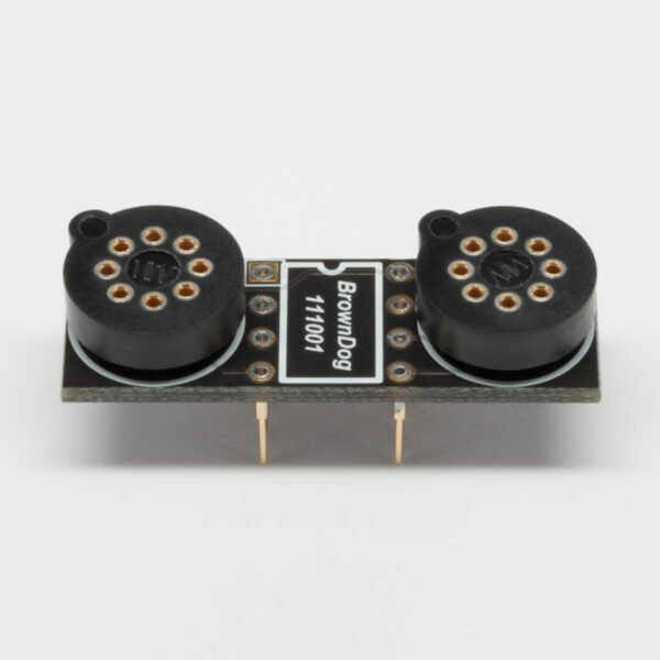 BrownDog 111001 Single to Dual Op Amp Adapter With Sockets Installed