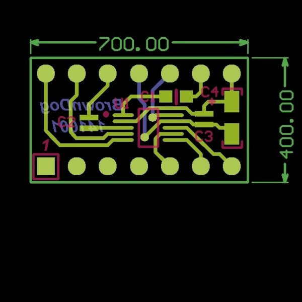 AD9833 to ML2036CP Adapter - p/n 141001-0